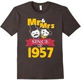 60th Wedding Anniversary T-Shirt Mr & Mrs Since 1957 Gift