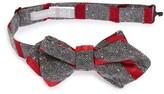 Nordstrom Boy's Stripe Silk Pointed Bow Tie