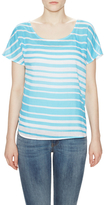 Ella Moss Cotton Striped Scoopneck Top