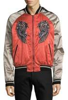 Roberto Cavalli Embroidered Graphic Bomber Jacket