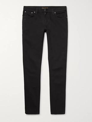 Nudie Jeans Skinny Lin Organic Stretch-Denim Jeans - Men - Black