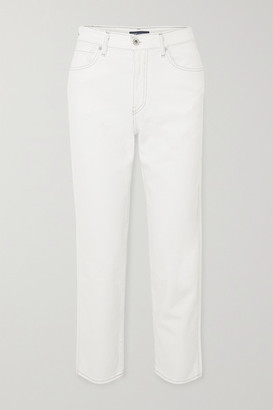 Levi's Made & Crafted The Column High-rise Straight-leg Jeans - White