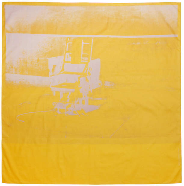 Calvin Klein Yellow Little Electric Chair Scarf