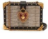 Dolce & Gabbana Heart padlock stud-embellished box bag