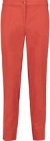 Etro Cropped cotton-blend slim-leg pants