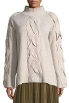 Robert Rodriguez Cable-Front Merino Sweater