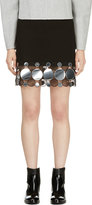 Christopher Kane Black and Silver Continuous Molecule Trim Skirt