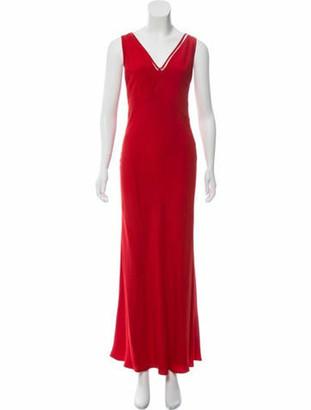 Valentino Embellished Evening Dress Red