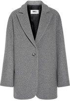 MM6 MAISON MARGIELA Wool-blend Felt Coat - Gray