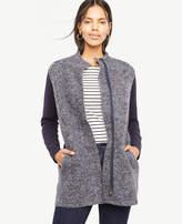 Ann Taylor Merino Wool Paneled Coatigan