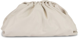 Bottega Veneta Leather Pouch Clutch in Chalk & Gold | FWRD