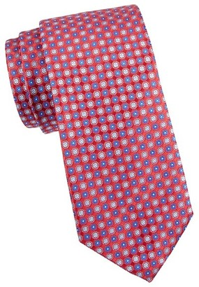 Canali Two-Tone Floral Medallion Silk Tie