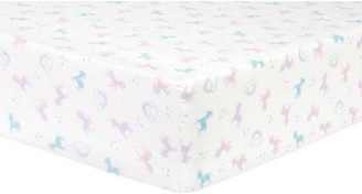 Trend Lab Unicorns and Stars Deluxe Flannel Fitted Crib Sheet