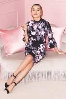 Paper Dolls Black Blossom Print Dress