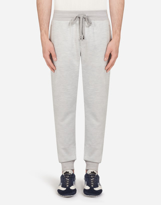 Dolce & Gabbana Cotton And Silk Jogging Pants With Embroidery