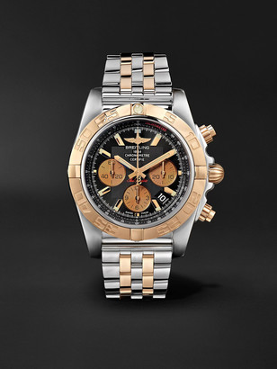 Breitling Chronomat B01 Automatic Chronograph 44mm Stainless Steel And Gold Watch, Ref. No. Cb0110121b1c1