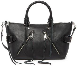 Rebecca Minkoff Moto Pebbled Leather Satchel Bag