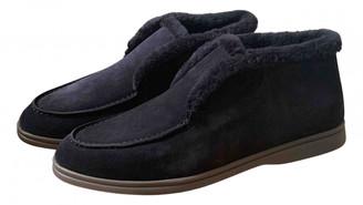 Loro Piana Black Fur Flats