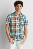 American Eagle Outfitters AE Short Sleeve Madras Shirt