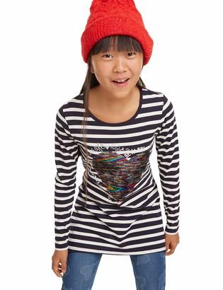 Desigual Girls Cross Longsleeve T-Shirt