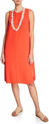 Eileen Fisher Sleeveless Crepe Shift Dress