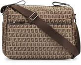 Fendi Leather-Trim Logo Diaper Bag, Brown