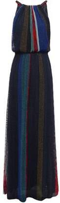 Missoni Color-block Metallic Open-knit Maxi Dress