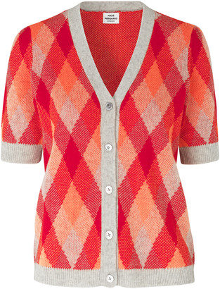 Mads Norgaard Cevella Neo Jacquard Knit - wool | orange | Red / Grey / Black | XS - 8 - Orange/Orange