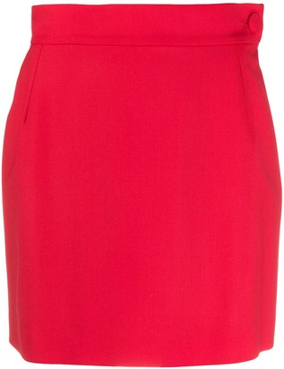ATTICO High-Waisted Mini Skirt