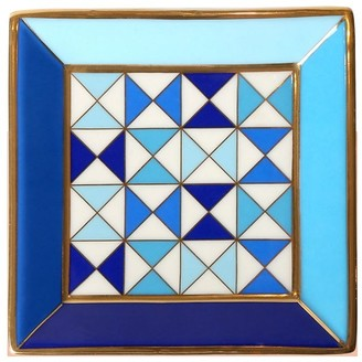 Jonathan Adler Sorrento Square Porcelain Tray W/ Gold