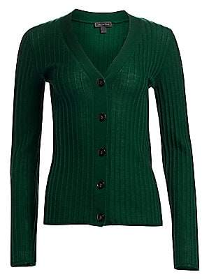 Saks Fifth Avenue Women's COLLECTION Ribbed Wool Cardigan