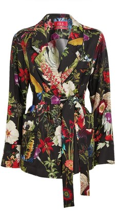 F.R.S For Restless Sleepers Floral Tie-Front Jacket