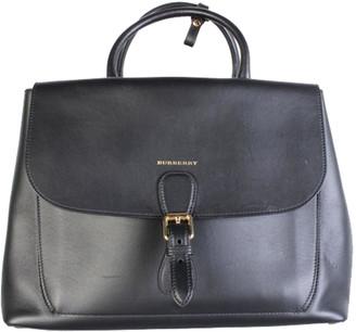 Burberry Black Leather Satchel