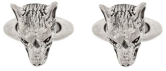 Gucci Anger Forest wolf head cufflinks