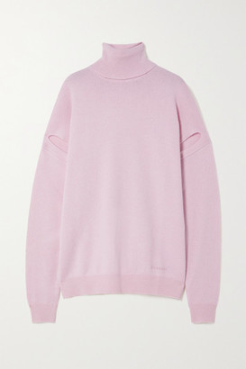 Givenchy Convertible Cashmere Turtleneck Sweater - Pink