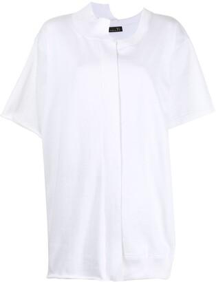 Y's Asymmetric Centre Front T-Shirt