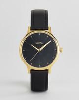 Nixon Black Leather Kensington Watch