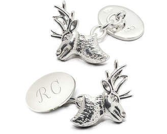 Aspinal of London Personalised Sterling Silver Sporting Cufflinks