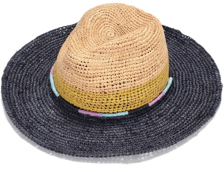 fa5d3784e Justine Hats Multi Colors Straw Fedora Hat