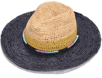 Justine Hats Multi Colors Straw Fedora Hat