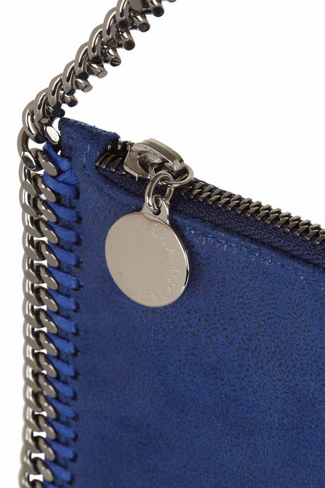 Stella McCartney Falabella faux brushed-leather pouch