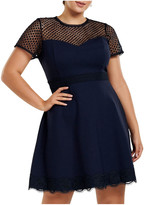 Forever New Curve Daria Lace Trim Ponte Curve Dress