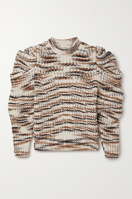 Ulla Johnson Daphne Striped Alpaca-blend Sweater - Ecru