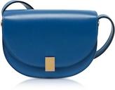Victoria Beckham Sky Blue Leather Nano Half Moon Box Crossbody Bag