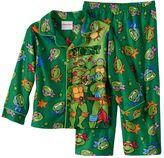 Toddler Boy Teenage Mutant Ninja Turtles Button-Down Fleece Pajama Set