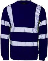 Forever Hi Viz Workwear Safety Sweatshirt Reflective Visibility Jumper