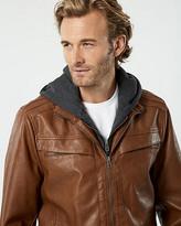 Le Château Leather-Like Motorcycle Jacket