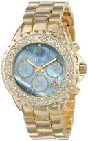 August Steiner Women's AS8031YG Crystal Mother-of-Pearl Chronograph Bracelet Watch