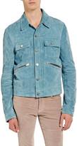 Amiri Men's Suede Trucker Jacket