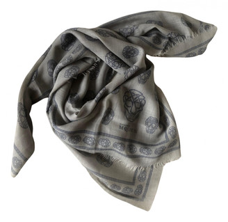 Alexander McQueen Grey Wool Scarves
